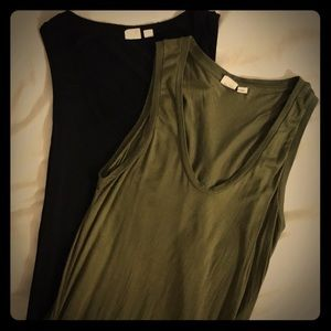 Pair of GAP Lightweight XS Tanks (Black & Olive)